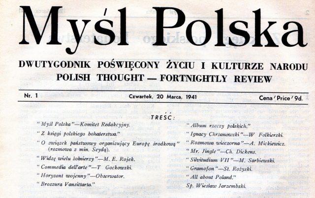 """""""Myśl Polska"""", najstarszy tygodnik w Polsce skończył 80 lat. Gratulujemy ! MP winieta"""